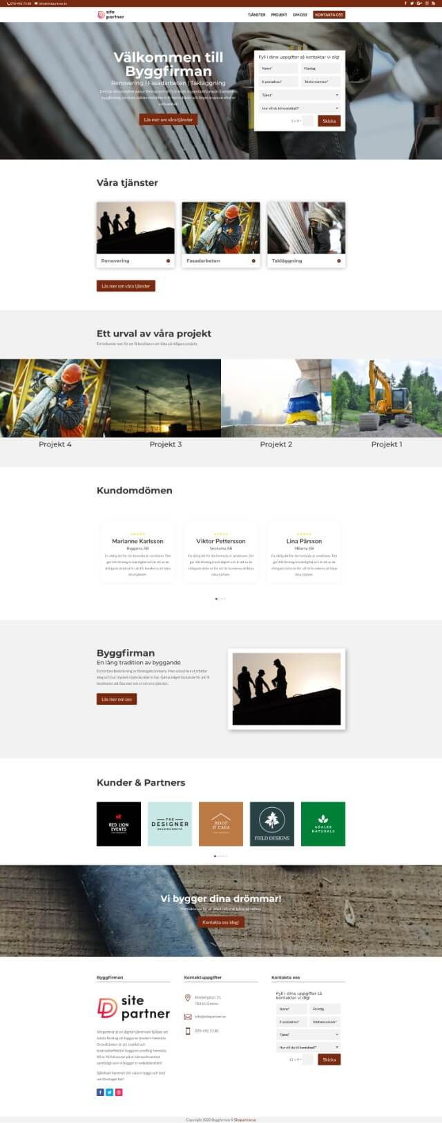 bygg designmall helsida