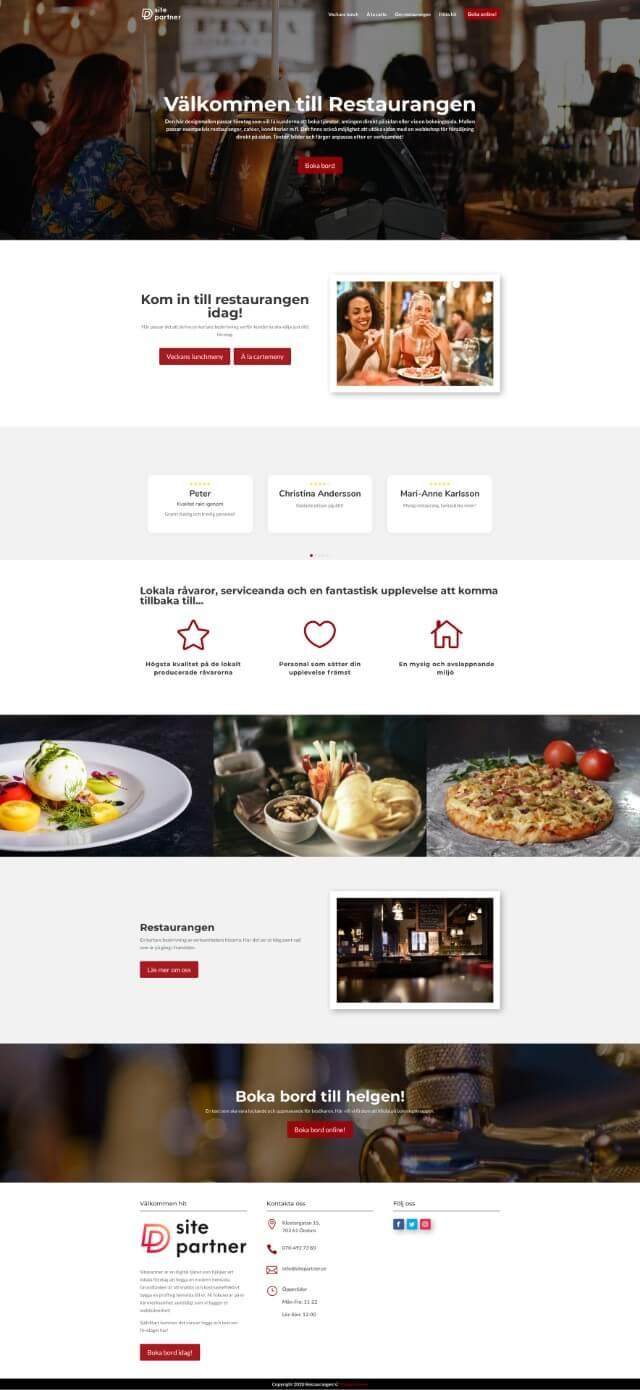 mat sitepartner.se helsida designmall design mall
