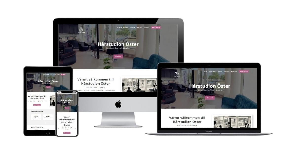 Hårstudion Öster Örebro Sitepartner Designmall Salong